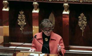 La députée socialiste Michèle Delaunay, rapporteur pour l'assurance-maladie du projet de loi de financement de la Sécurité sociale, le 20 octobre 2015 à l'Assemblée nationale