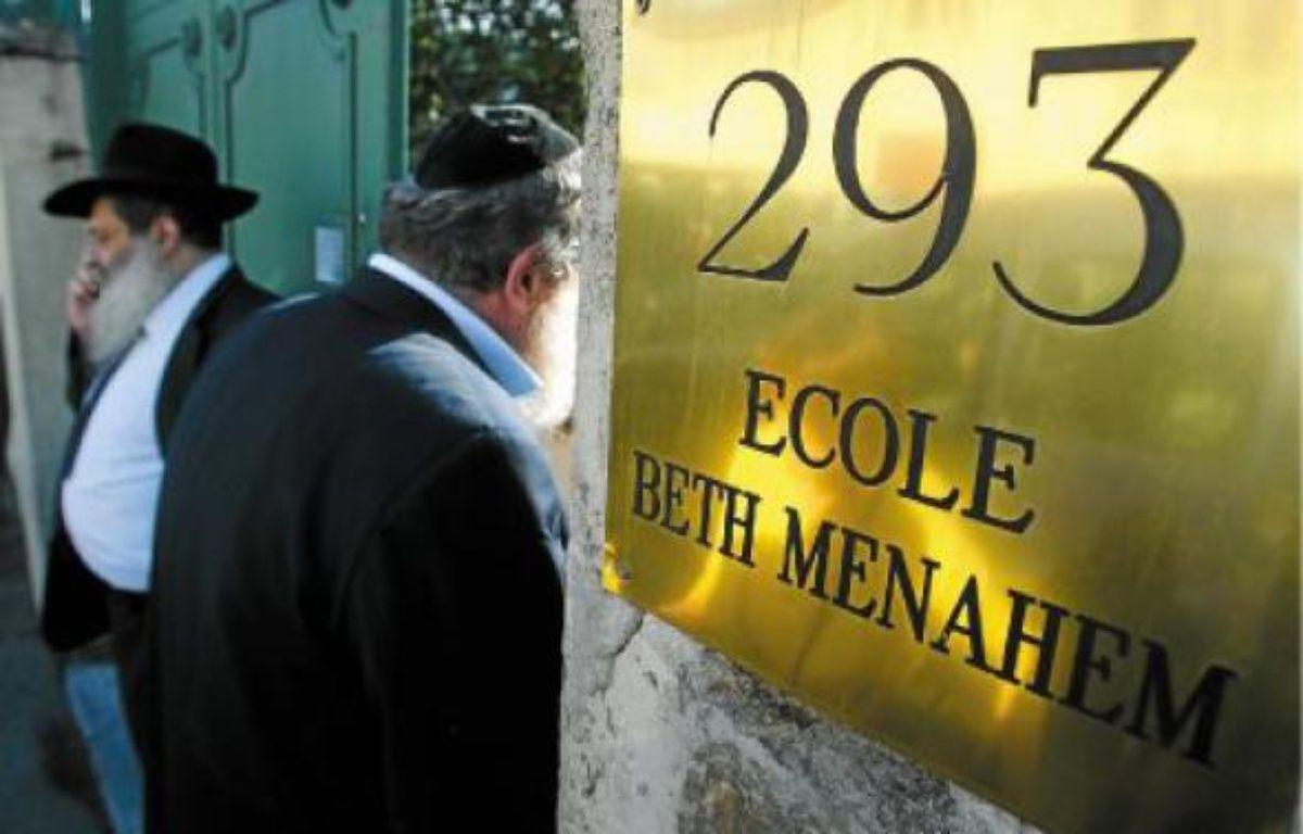 A l'école Beth Menahem, où les victimes ont été scolarisées, l'inquiétude des parents était vive. –  C. villemain / 20 minutes