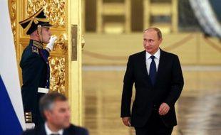 Le président russe Vladimir Poutine au Kremlin à Moscou, le 1er octobre 2015