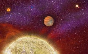 Le système solaire Ari30, dans la constellation du Bélier.