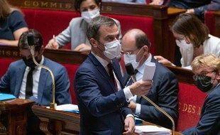 Le ministre de la Santé, Olivier Véran, à l'Assemblée le 20 juillet 2021.