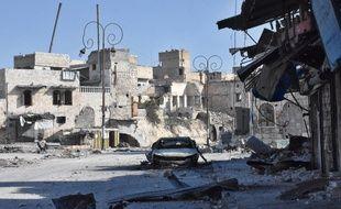 Alep, le 8 décembre 2016, après que les forces du régime ont repris une partie des quartiers rebelles.