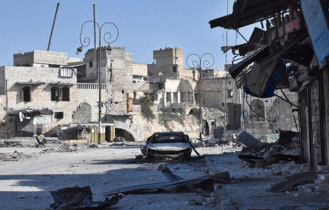Alep, le 8 décembre 2016, après que les forces du régime ont repris une partie des quartiers rebelles