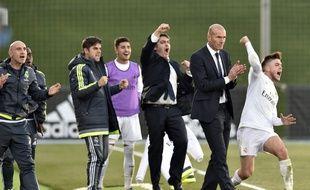 Zinedine Zidane entraîne l'équipe réserve du Real depuis deux ans.