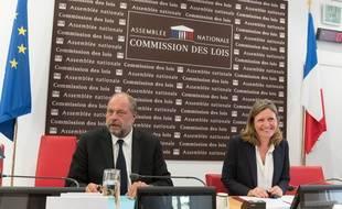 Eric Dupond-Moretti et Yael Braun-Pivet devant la Commission des lois de l'Assemblée nationale