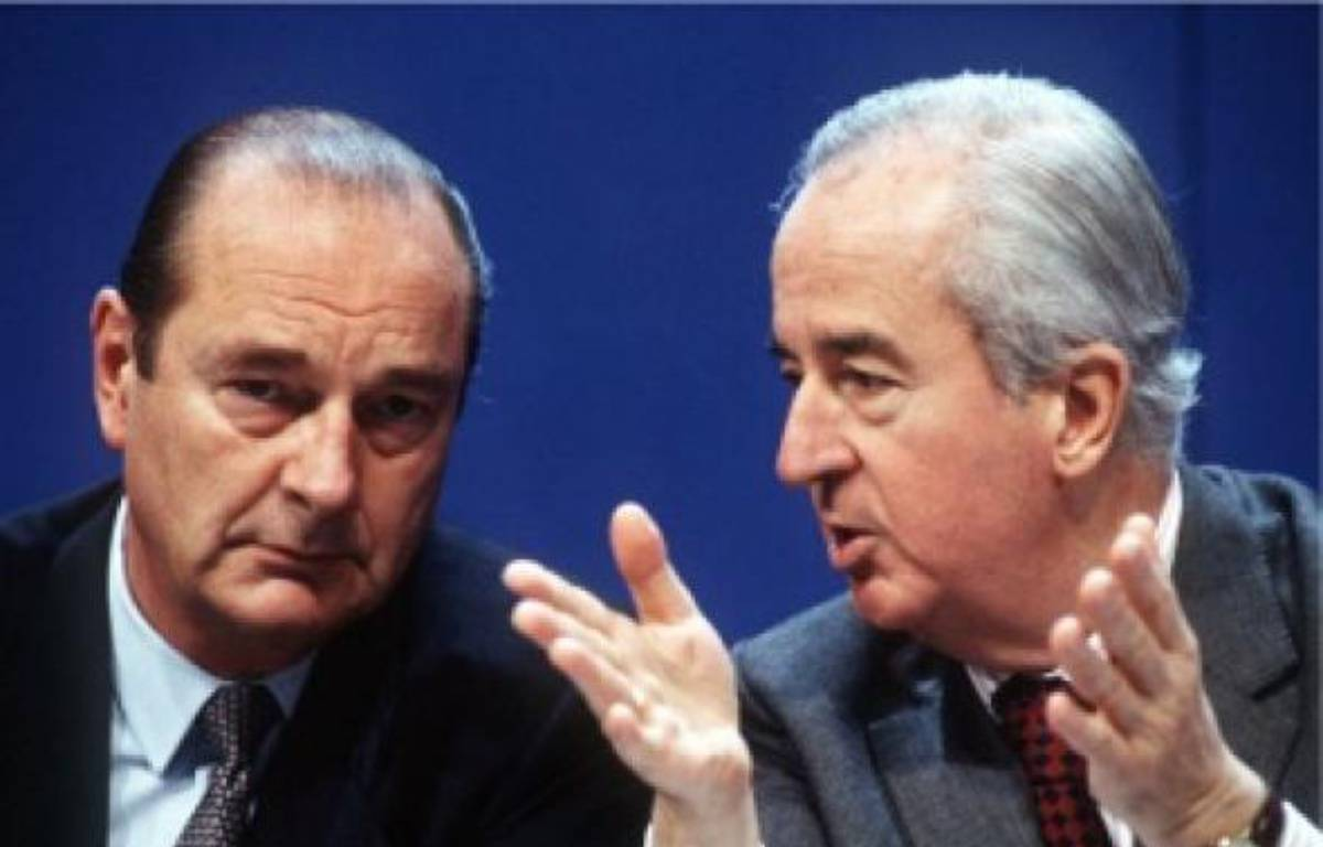 Edouard Balladur (à d.) et Jacques Chirac –  DR
