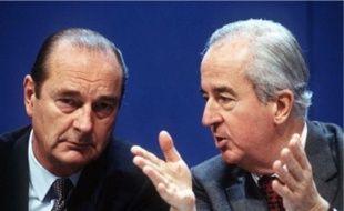 Edouard Balladur (à d.) et Jacques Chirac