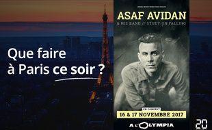 Asaf Avidan sera ce soir et vendredi soir à l'Olympia.