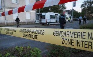 Un ruban de gendarmerie. (illustration)