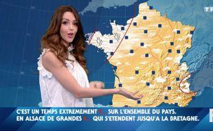 Nabilla a présenté la météo dans l'émission «Vendredi tout est permis».