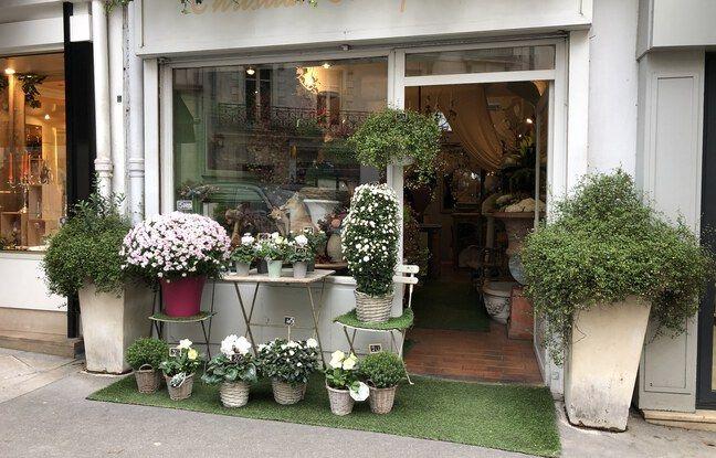 Le fleuriste Christian Charpentier, rue Cassini.