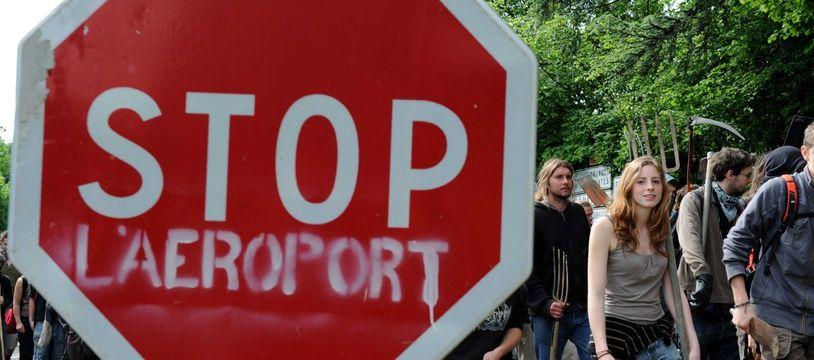 Manifestation contre le projet d'aéroport de Notre-Dame-des-Landes.