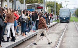 L'augmentation de la fréquentation du réseau, portée par le tram, a été de 8,5 % sur 2017. - Photo : Sebastien Ortola