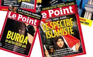 Couvertures de magazines consacrées à l'islam.