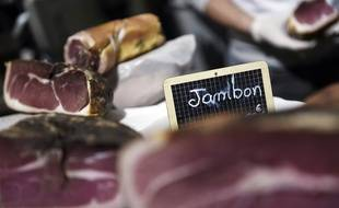 Du jambon. (illustration)