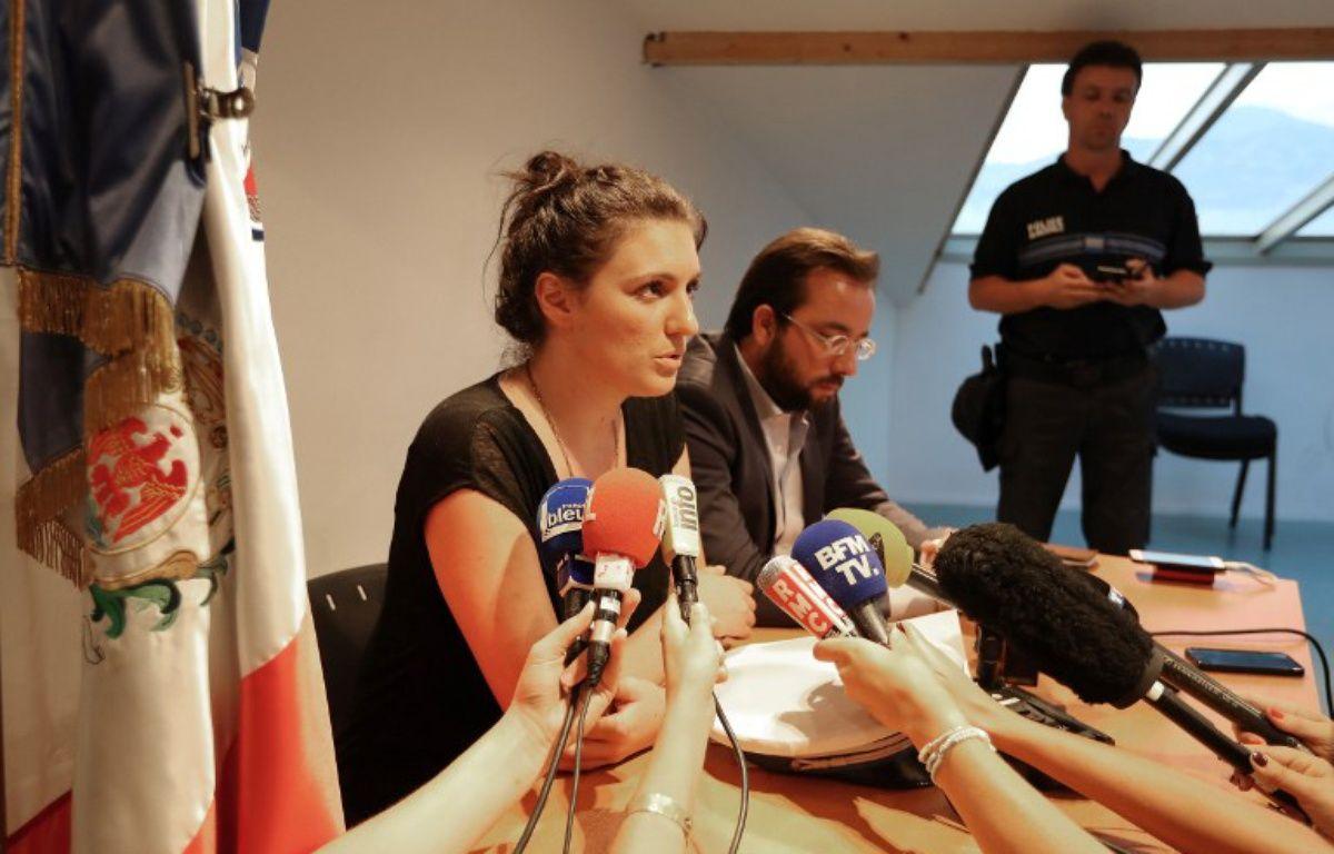 Sandra Bertin, la policière municipale pilotant la vidéosurveillance à Nice – VALERY HACHE / AFP