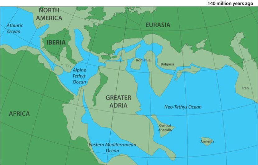 Un continent perdu, englouti sous l'Europe il y a 120 millions d'années découvert par des chercheurs