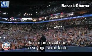 Capture d'écran du zapping «USA 2012: Peopolitique à l'américaine»