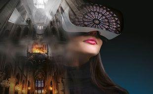 Le film Revivre Notre-Dame en réalité virtuelle permet de revivre, casque VR sur la tête, la cathédrale de Paris avant / après avec un incroyable réalisme.