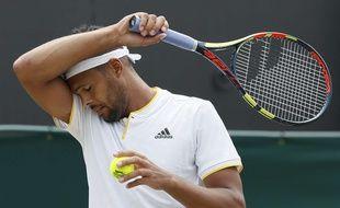 Jo-Wilfried Tsonga le 8 juillet 2017 à Wimbledon.