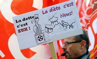 Une manifestation anti-austérité le 14 novembre dernier à Lille.