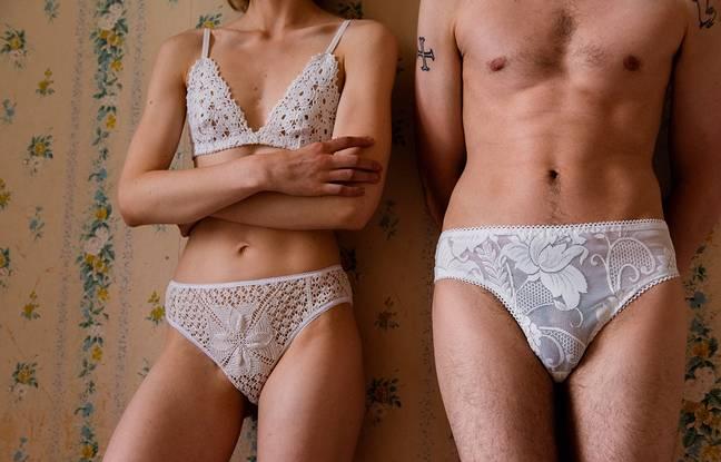 Un modèle de la marque de lingerie Napperon.