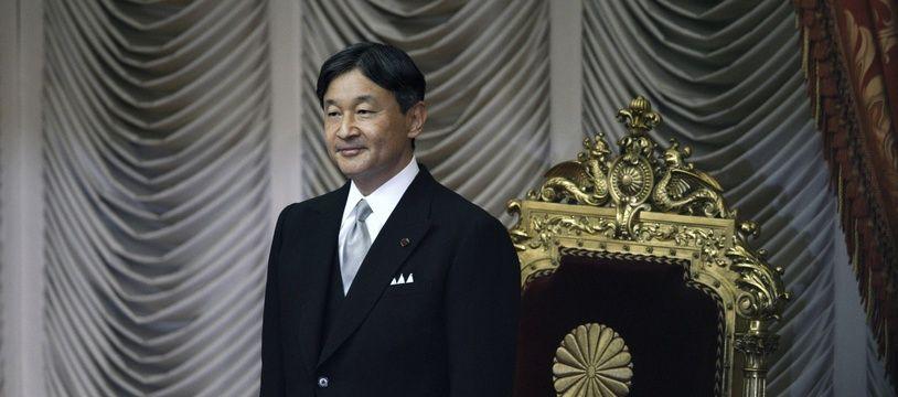L'empereur Naruhito à la chambre haute du Parlement japonais, le 4 octobre 2019.