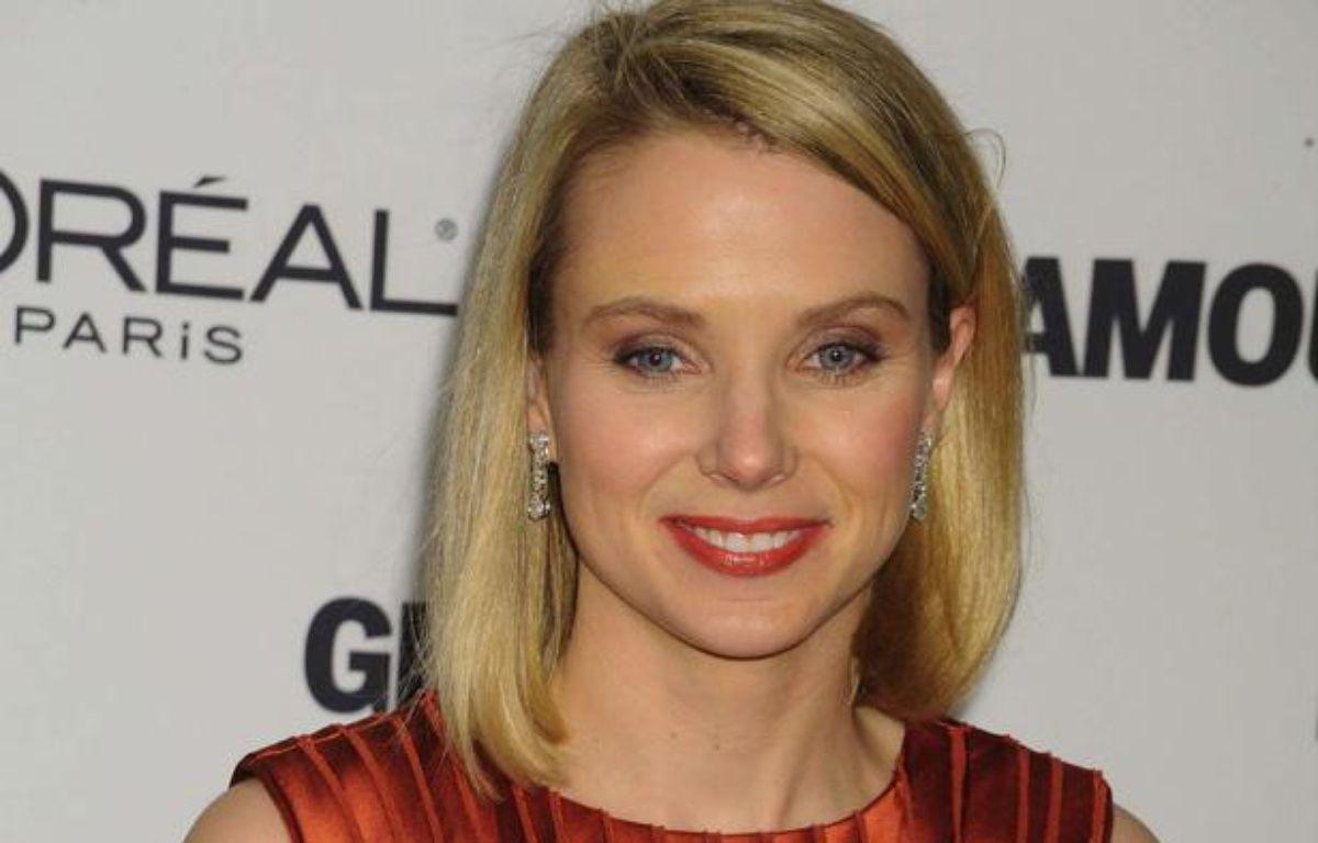 Marissa Mayer récompensée comme «femme de l'année» par Glamour en 2009 à New York. – Rex Features/ SIPA