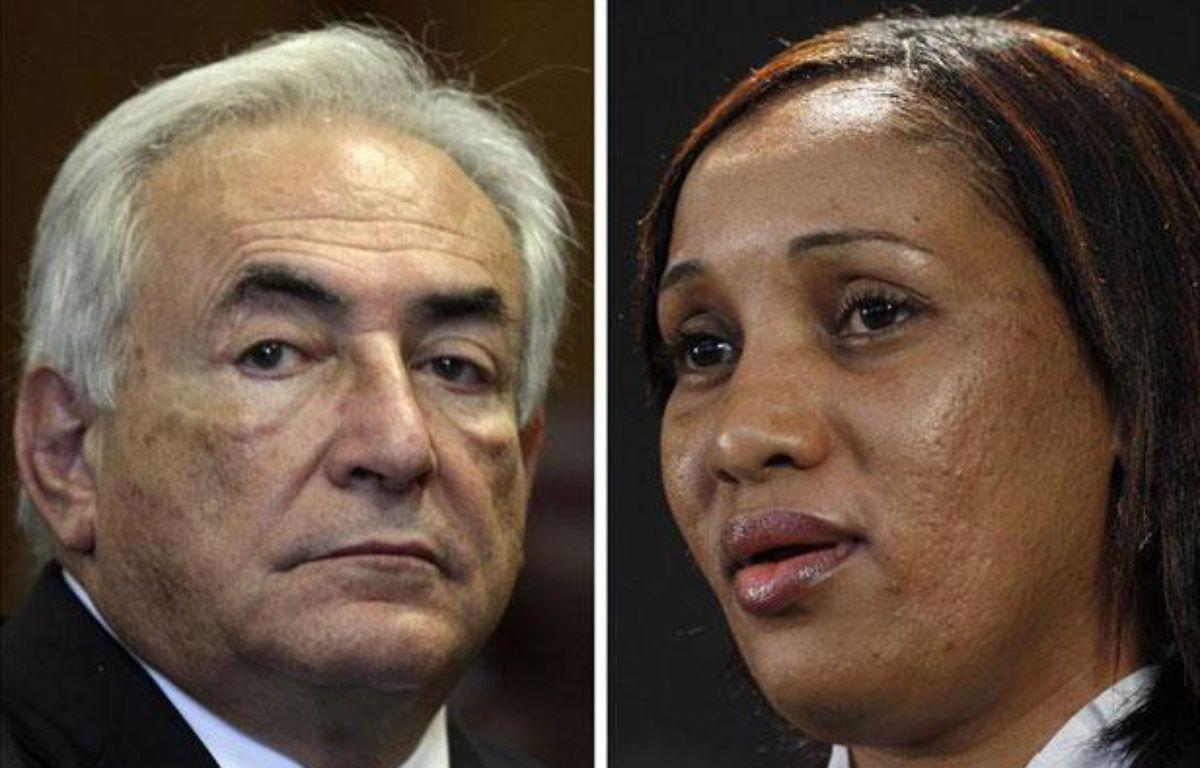 Montage photo: Dominique Strauss-Kahn et Nafissatou Diallo. – REUTERS/POOL New