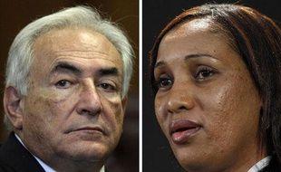 Montage photo: Dominique Strauss-Kahn et Nafissatou Diallo.