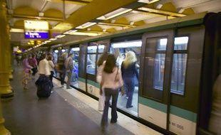 Illustration du métro parisien.