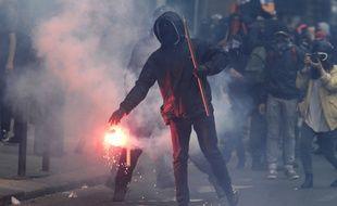 Heurts en marge de la manifestation du 14 juin 2016 à Paris.