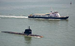 Le sous-marin Scorpène «Kalivari» en Inde, le 1er mai 2016.