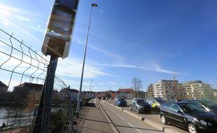 Le nouveau radar surpuissant mais non effectif pour l'instant est positionné quai Louis Pasteur à Strasbourg.