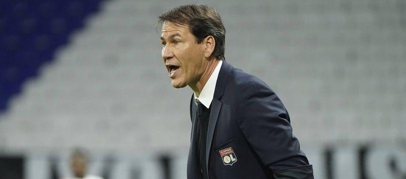 Rudi Garcia, ici lors d'un large succès (4-1) en octobre contre Monaco, qui symbolise la montée en puissance de l'OL en Ligue 1.