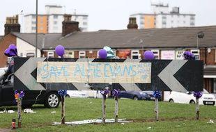 Devant l'hôpital Alder Hey de Liverpool où était hospitalisé Alfie Evans le 24 avril 2018.