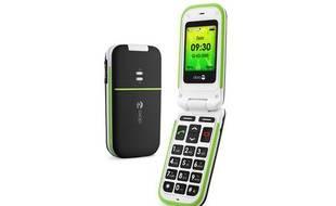 Photographie du mobile Doro PhoneEasy 410gsm, commercialisé en France par Bouygues Telcom à partir d'avril 2010.