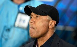 Antoine Kombouaré, alors entraîneur de Dijon, lors du quart de finale de Coupe de France au Parc des Princes face au PSG, le 26 février 2019.