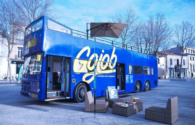 Le bus Gojob lors de son étape à Salon de Provence
