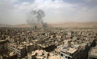 Vue générale de Damas le 14 septembre 2015