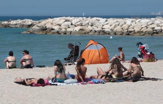La plage du Prado.