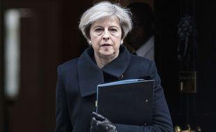 La Premiere ministre britannique Theresa May, le 23 mars 2017.