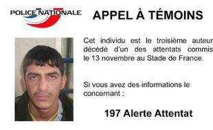 Un appel à témoins de la police française diffusé le 22 novembre 2015