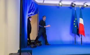 François Fillon sur le point de commencer son allocution le 6 février 2017 à Paris.