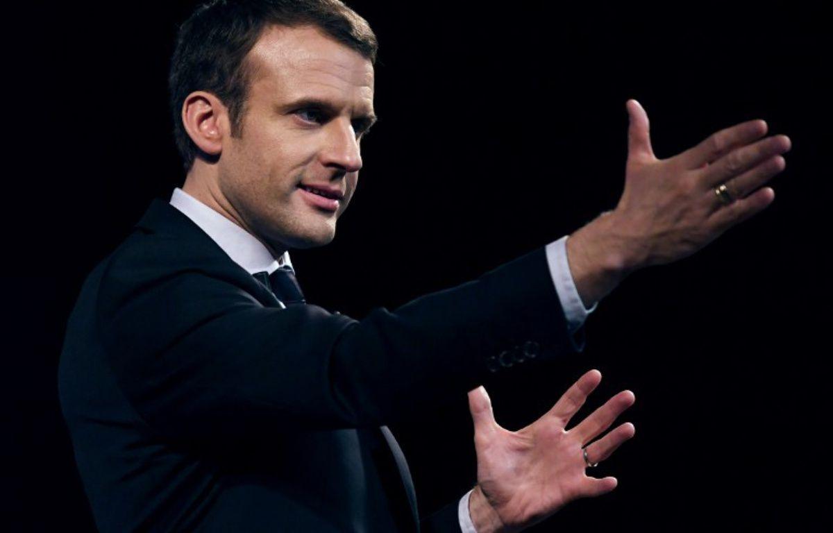 Emmanuel Macron en meeting.  – Eric FEFERBERG / AFP