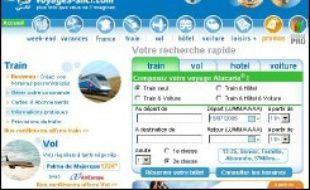 Le site internet Voyages-Sncf.com a enregistré au premier semestre 2006 un volume d'affaires en hausse de 37% à 766 millions deuros, contre 559 millions deuros sur la même période de 2005, a-t-il indiqué mardi dans un communiqué.