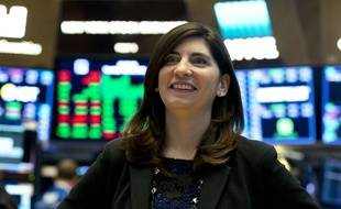 Stacey Cunningham, le 22 mai 2018 à Wall Street.