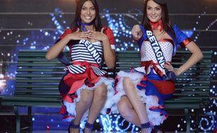 Miss Bretagne et Miss Réunion dans un tableau consacré à la fête à la française...