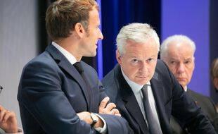 Emmanuel Macron et Bruno Le Maire, le ministre de l'Economie.
