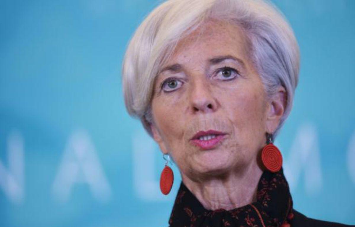 La directrice générale du FMI, Christine Lagarde, le 10 février 2016 à Washington – MANDEL NGAN AFP